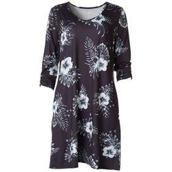 Womens Keep It Cool Floral V-Neck Dress