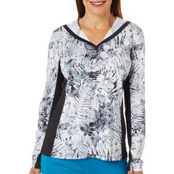 Reel Legends Womens Reel-Tec Palms In The Jungle Hooded Top