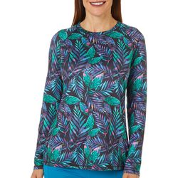 Reel Legends Womens Keep It Cool Leafy Palm