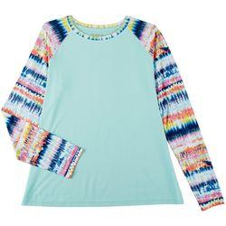 Reel Legends Womens Reel-Tec Tie Dye Long Sleeve Top