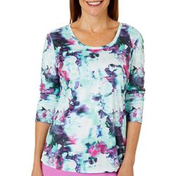 Reel Legends Womens Reel-Tec Floral Movement Top