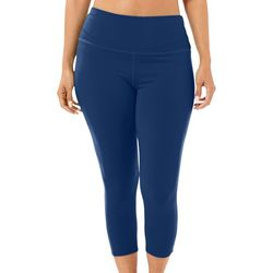 Reel Legends Womens Elite Comfort Solid Capri Leggings