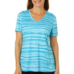 Reel Legends Womens Reel-Tec Monument Stripes Print Top