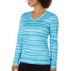 Womens Freeline Striped Print Top