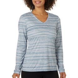 Reel Legends Womens Freeline Striped Print Top