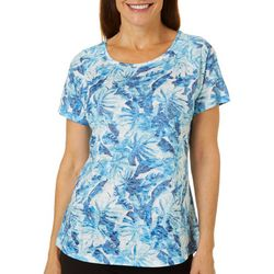 Reel Legends Womens Painted Garden Raglan Sleeve Burnout Top