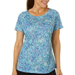 Reel Legends Womens Winged Water Raglan Sleeve Burnout Top
