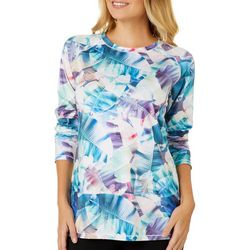 Reel Legends Womens Keep It Cool Colorful X-Ray Palms Top