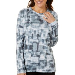 Reel Legends Womens Keep It Cool Mosaic Cubes Top