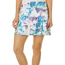 Reel Legends Womens Keep It Cool Colorful X-Ray Palms Skort