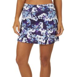 Womens Keep It Cool Modern Floral Skort