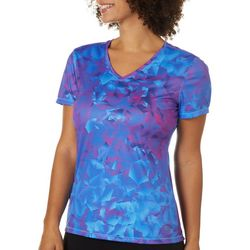 Reel Legends Womens Mixed Geometric T-Shirt