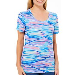 Reel Legends Womens Reel-Tec Water Way Print Top