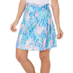 Reel Legends Womens Rain Print Convertible Skirt