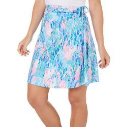 Womens Rain Print Convertible Skirt