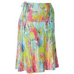 Reel Legends Womens Keep It Cool Splatter Convertible Skirt