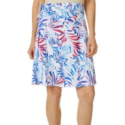 Womens Water Color Palms Convertible Skirt