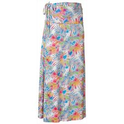 Reel Legends Womens Keep It Cool Colorful Palms Maxi Skirt