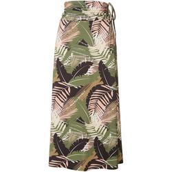 Womens Keep It Cool Jungle Olive Maxi Skirt