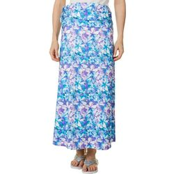 Reel Legends Womens Keep It Cool Hibiscus Bliss Maxi Skirt