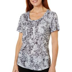 Reel Legends Womens Water Camo Burnout T-Shirt