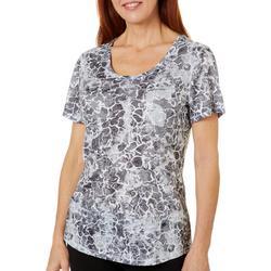 Womens Water Camo Burnout T-Shirt