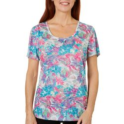 Reel Legends Womens Moving Florals Burnout T-Shirt