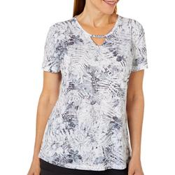 Womens Palms In The Jungle Keyhole T-Shirt