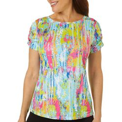 Reel Legends Womens Reel-Tec Color Tracks Print Top