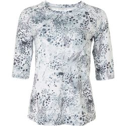 Womens Keep It Cool Asphault Bubbles 3/4 Top