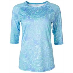 Reel Legends Womens Keep It Cool Tree Roots Printed Top