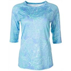 Womens Keep It Cool Tree Roots Printed Top