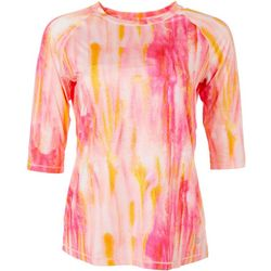 Reel Legends Womens Keep It Cool Peach Bud 3/4 Top