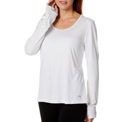 Reel Legends Womens Elite Comfort Solid Keyhole Back Top