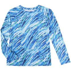 Reel Legends Womens Reel-Tec Wild Waves Long Sleeve Top