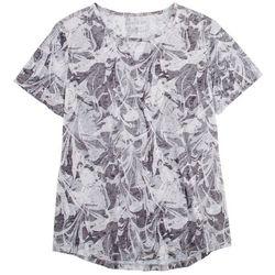 Reel Legends Womens Printed Short Sleeve Top