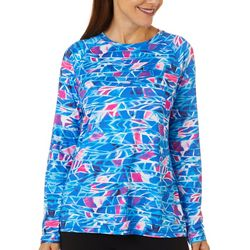 Reel Legends Womens Keep It Cool Retro Waves Long Sleeve Top