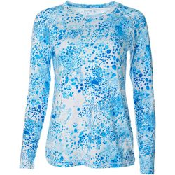 Reel Legends Womens Keep It Cool Bubble Print Top