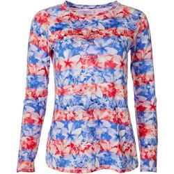 Womens Keep It Cool Patriotic Hibiscus Top