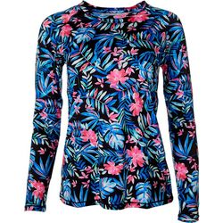 Womens Keep It Cool Summer Floral Print Top