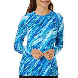 Reel Legends Womens Keep It Cool Wispy Stripe Top