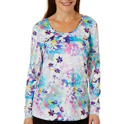 Reel Legends Womens Keep It Cool Colorful Blossoms Top
