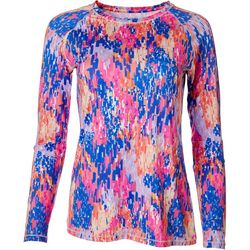 Reel Legends Womens Keep It Cool Rain Print Top