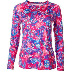 Reel Legends Womens Keep It Cool Jungle Glow Print Top