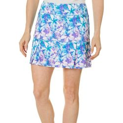 Reel Legends Womens Keep It Cool Hibiscus Bliss Skort