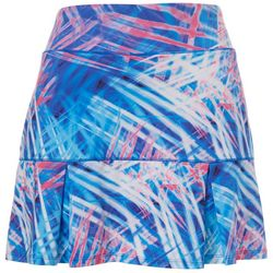 Reel Legends Womens Keep It Cool Abstract Palms Skort