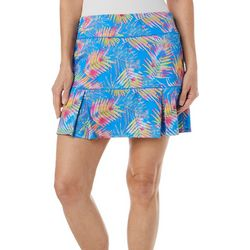 Womens Keep It Cool Sketched Palms Skort
