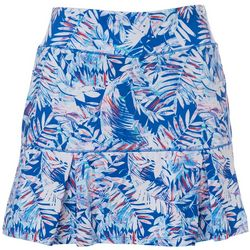 Womens Keep It Cool Tropical Palms Skort