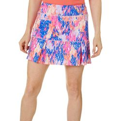 Reel Legends Womens Keep It Cool Rain Drop Print Skort