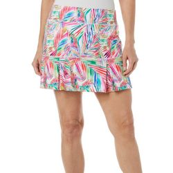 Womens Keep It Cool Colorful Palms Skort